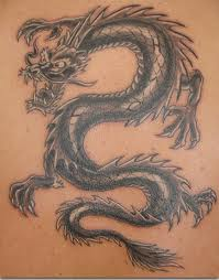 Ever-so-popular dragon tattoo