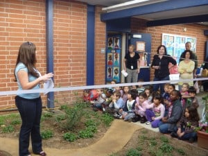 Lin Howe Cuts the Ribbon on a New Garden