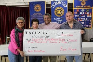 CC Youth Health Gets More Than Change from Exchange Club