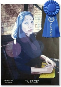 "Michelle Bac Wins Congressional Art Contest with ""A Face"""