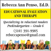 Rebecca Ann Penso, Ed.D. - Specializing in reluctant readers - (310) 391-9985