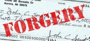 Crime Blotter – Check Forger Drains Bank Account