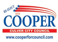Re-elect Jeff Cooper to Culver City Council