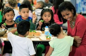 Michelle Obama And Mexican First Lady Visit Elementary School In Maryland