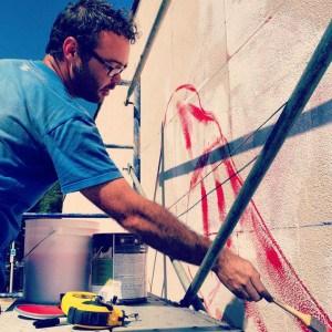 Magee Begins Mural