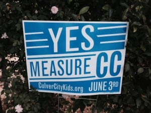 Yes on Measure CC Signs Spring Up Throughout the City