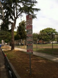A Sign of Good Sense – Parking Signs Trimmed Overnight
