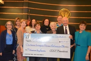 CCEF Presents Fineshriber Funds to Board of Education