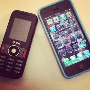 old-phone-vs-iphone
