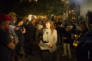 """Culver City Candlelight Vigil at the Downtown Plaza """"Nous Sommes Charlie"""""""