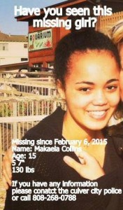 Missing Girl Found – Updated 2-11-2015