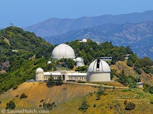An aerial view of Lick Observatory on the Mt. Hamilton summit.