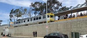 Expo Train Tests Into New Station