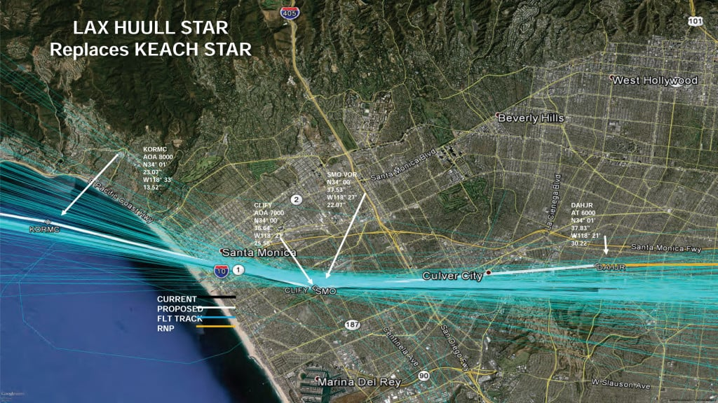 LAXProposedArrivalProcedures WestFlow150701 11 1024x576 Flight Paths for LAX Affecting Culver
