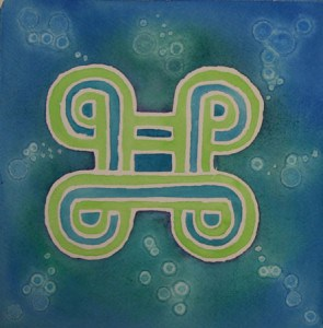 MPATAPOW Knot of reconcilliation symbol of reconciliation, peacemaking and pacification