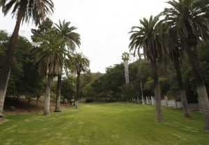 LOS ANGELES, CALIFORNIA - OCTOBER 9, 2013: Wattles Park is an unexpected urban oasis, a green and shaded garden in the heart of Hollywood. It's loaded with history and a delightful place   to have a picnic, watch a sunset of just hang out. (Gary Friedman/Los Angeles Times)