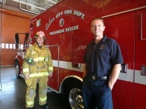 Local Fire Fighters Support Eriksson