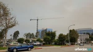 Crane Over Corporate Pointe – Tower Construction Begins