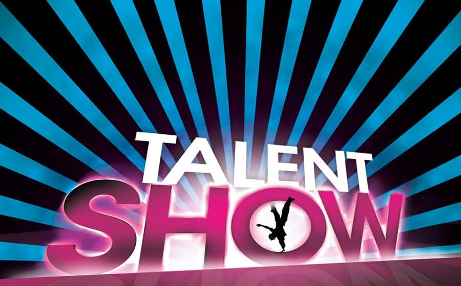 Graphic of a talent show header