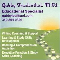 Gabby Friedenthal, M.Ed. - 310-804-0320