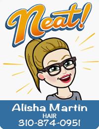 Alisha Martin Hair 310-874-0951