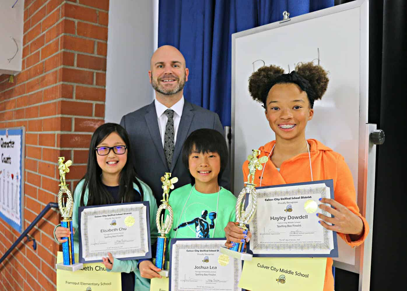 Chu Wins The District Spelling Bee Advances To County Culver City