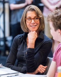 "Cast member Wendie Malick in rehearsal for the world premiere of ""Big Night"" at Center Theatre Group's Kirk Douglas Theatre. Written by Paul Rudnick and directed by Walter Bobbie, ""Big Night"" runs September 10 through October 8, 2017. For tickets and information, please visit CenterTheatreGroup.org or call (213) 628-2772. Media Contact: CTGMedia@CTGLA.org / (213) 972-7376. Photo by Craig Schwartz."