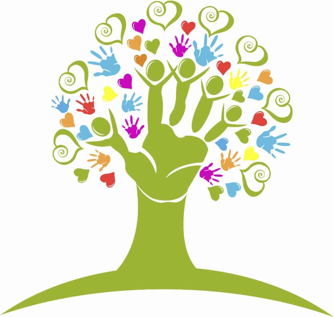 helping hands tree
